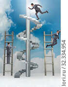 Купить «The competition concept with businessman beating competitors», фото № 32334954, снято 3 июля 2020 г. (c) Elnur / Фотобанк Лори