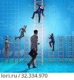 Купить «Competition concept with businessman beating competitors», фото № 32334970, снято 3 июля 2020 г. (c) Elnur / Фотобанк Лори