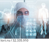 Купить «Telemedicine mhealth concept with young doctor», фото № 32335910, снято 27 января 2020 г. (c) Elnur / Фотобанк Лори
