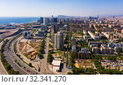 Diagonal Mar, Barcelona, Spain. Стоковое фото, фотограф Яков Филимонов / Фотобанк Лори