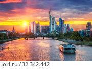 Frankfurt at sunset (2012 год). Стоковое фото, фотограф Sergey Borisov / Фотобанк Лори