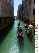 Купить «Venetian canals with gondolas», фото № 32347482, снято 5 сентября 2019 г. (c) Яков Филимонов / Фотобанк Лори