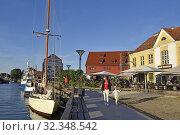 Купить «Old Harbour district, Klaipeda, port city on the Baltic Sea, Lithuania, Europe.», фото № 32348542, снято 23 июня 2019 г. (c) age Fotostock / Фотобанк Лори