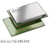 Купить «Two processor boards with heat distribution cover.», иллюстрация № 32349418 (c) Маринченко Александр / Фотобанк Лори