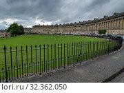 Купить «The Royal Crescent, Bath, UNESCO World Heritage Site, Somerset, England, United Kingdom, Europe», фото № 32362050, снято 16 июня 2019 г. (c) age Fotostock / Фотобанк Лори