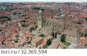 Купить «Salamanca Cathedral and historical center of city, Spain», видеоролик № 32365594, снято 17 июня 2019 г. (c) Яков Филимонов / Фотобанк Лори