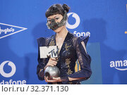 Купить «Jasmine Sokko attends 2019 MTV Europe Music Awards (EMAs) - Winners Room at FIBES Conference and Exhibition Centre on November 3, 2019 in Sevilla, Spain», фото № 32371130, снято 3 ноября 2019 г. (c) age Fotostock / Фотобанк Лори