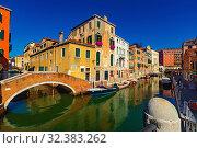 Купить «Scenic view of Venetian canals», фото № 32383262, снято 5 сентября 2019 г. (c) Яков Филимонов / Фотобанк Лори