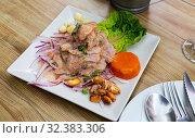 Купить «Typical Peruvian seviche», фото № 32383306, снято 13 ноября 2019 г. (c) Яков Филимонов / Фотобанк Лори