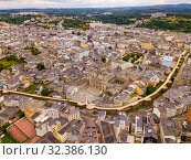 Aerial view on the city Lugo. Galicia. Spain (2019 год). Стоковое фото, фотограф Яков Филимонов / Фотобанк Лори