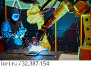 Купить «Additive machines with a high contribution rate of WAAM technology (Wire Arc Additive Manufacturing), Additive manufacturing process with a high contribution...», фото № 32387154, снято 14 мая 2019 г. (c) age Fotostock / Фотобанк Лори