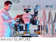 Купить «Robot Autonomy for Flexible Manufacturing, Collaborative robotic, Advanced manufacturing Unit, Technology Centre, Tecnalia Research & Innovation, Donostia...», фото № 32387242, снято 14 мая 2019 г. (c) age Fotostock / Фотобанк Лори