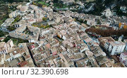 Купить «Aerial view of Estella-Lizarra medieval town in Navarre, Spain», видеоролик № 32390698, снято 20 декабря 2018 г. (c) Яков Филимонов / Фотобанк Лори