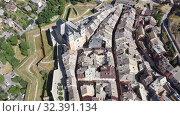 Купить «Aerial view on the city Briancon. France», видеоролик № 32391134, снято 31 августа 2019 г. (c) Яков Филимонов / Фотобанк Лори