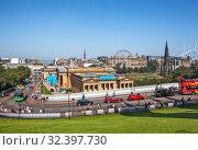 Городской пейзаж. Эдинбург. Великобритания (2019 год). Редакционное фото, фотограф Сергей Афанасьев / Фотобанк Лори