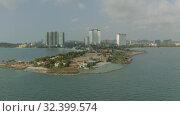 Купить «Sihanoukville city in Cambodia drone shot 4K», видеоролик № 32399574, снято 26 октября 2019 г. (c) Aleksejs Bergmanis / Фотобанк Лори