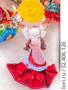 Купить «Russia, Samara, March 2019: Disposable Shrovetide dolls prepared for burning at the winter farewell festival.», фото № 32406126, снято 10 марта 2019 г. (c) Акиньшин Владимир / Фотобанк Лори