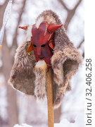 Купить «Pagan Slavic mask used in pagan rites.», фото № 32406258, снято 10 марта 2019 г. (c) Акиньшин Владимир / Фотобанк Лори