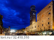Illuminated Verona streets in night. Стоковое фото, фотограф Яков Филимонов / Фотобанк Лори