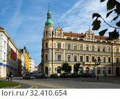 Old Town of Czech city of Pisek. Редакционное фото, фотограф Яков Филимонов / Фотобанк Лори