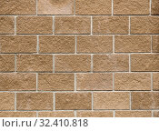 Laying of expanded clay blocks, The texture of the wall. Background of building materials. Стоковое фото, фотограф Алексей Голованов / Фотобанк Лори