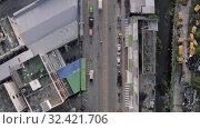 Cars and Bikes traffic TIMELAPSE in Patong city, Thailand Phuket Island 4K Drone flight. Стоковое видео, видеограф Aleksejs Bergmanis / Фотобанк Лори