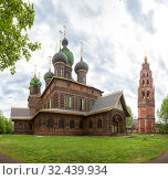 Купить «Church of St. John the Baptist and belfry in Yaroslavl», фото № 32439934, снято 13 мая 2019 г. (c) Юлия Бабкина / Фотобанк Лори