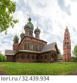 Church of St. John the Baptist and belfry in Yaroslavl (2019 год). Стоковое фото, фотограф Юлия Бабкина / Фотобанк Лори