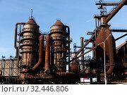 Купить «Old steel factory in area Dolni Vitkovice», фото № 32446806, снято 19 января 2020 г. (c) Яков Филимонов / Фотобанк Лори