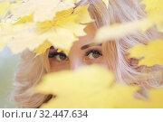 Купить «Девушка осенью», эксклюзивное фото № 32447634, снято 4 октября 2019 г. (c) Инна Козырина (Трепоухова) / Фотобанк Лори