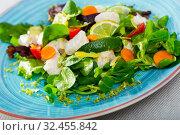 Купить «Recipe of salad with pickled codfish», фото № 32455842, снято 3 апреля 2020 г. (c) Яков Филимонов / Фотобанк Лори