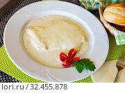 Купить «Chicken fillet with cream sauce», фото № 32455878, снято 21 ноября 2019 г. (c) Яков Филимонов / Фотобанк Лори