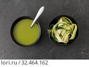 Купить «peeled or sliced zucchini and cream soup in bowl», фото № 32464162, снято 12 апреля 2018 г. (c) Syda Productions / Фотобанк Лори