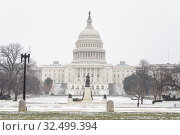 US Capitol in Washington DC at winter (2018 год). Стоковое фото, фотограф Sergey Borisov / Фотобанк Лори