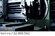 Купить «Working metal machine tool at plant video», видеоролик № 32499562, снято 7 ноября 2019 г. (c) Гурьянов Андрей / Фотобанк Лори
