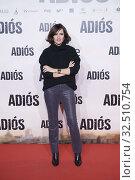 Ana Turpin attends 'Adios' premiere at Capitol Cinema on November 19, 2019 in Madrid, Spain. Редакционное фото, фотограф Manuel Cedron / age Fotostock / Фотобанк Лори