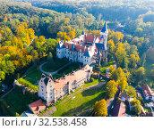 Купить «Zleby castle, Kutna Hora district, Czech Republic», фото № 32538458, снято 14 октября 2019 г. (c) Яков Филимонов / Фотобанк Лори
