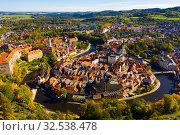 Купить «Cesky Krumlov on Vltava river, Czech Republic», фото № 32538478, снято 12 октября 2019 г. (c) Яков Филимонов / Фотобанк Лори