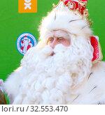 Russia, Samara, December 2019: portrait of Santa Claus who came from Ustyug to Samara to congratulate children on New Year. Редакционное фото, фотограф Акиньшин Владимир / Фотобанк Лори