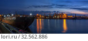 Купить «Night at the seaport in Odessa, Ukraine», фото № 32562886, снято 6 июня 2019 г. (c) Sergii Zarev / Фотобанк Лори