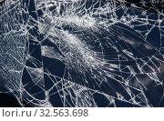 Купить «Broken tablet screen», фото № 32563698, снято 8 августа 2015 г. (c) Юрий Бизгаймер / Фотобанк Лори