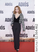 Lucia Caraballo attends 'Adios' premiere at Capitol Cinema on November 19, 2019 in Madrid, Spain. Редакционное фото, фотограф Manuel Cedron / age Fotostock / Фотобанк Лори