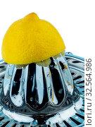 Eine aus gepresste Zitrone auf weißem Hintergrund. Symbolfoto für Steuern, Abgaben, Стоковое фото, фотограф Zoonar.com/Erwin Wodicka / age Fotostock / Фотобанк Лори