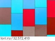 Купить «Wall from multi-colored panels background.», фото № 32572410, снято 9 марта 2017 г. (c) Акиньшин Владимир / Фотобанк Лори