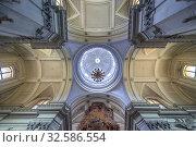 Ceiling above high altar of Metropolitan Cathedral of the Assumption of Virgin Mary in Palermo city, capital of autonomous region of Sicily, Italy. Стоковое фото, фотограф Konrad Zelazowski / easy Fotostock / Фотобанк Лори