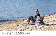 Купить «Langeron Beach in Odessa, Ukraine, at springtime», фото № 32588870, снято 23 апреля 2019 г. (c) Sergii Zarev / Фотобанк Лори