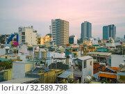 Купить «Утренний городской пейзаж современного Сайгона (Хошимин). Вьетнам», фото № 32589798, снято 19 декабря 2015 г. (c) Виктор Карасев / Фотобанк Лори