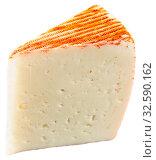 Купить «Appetizing slice of semi-soft cheese», фото № 32590162, снято 15 декабря 2019 г. (c) Яков Филимонов / Фотобанк Лори