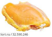 Raw skinless chicken thighs. Стоковое фото, фотограф Яков Филимонов / Фотобанк Лори