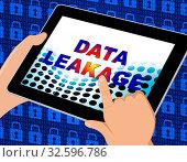 Купить «Data Leakage Information Flow Loss 3d Illustration Shows Leaky Breach Of Server Information For Protection Of Resources», фото № 32596786, снято 5 апреля 2020 г. (c) easy Fotostock / Фотобанк Лори
